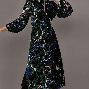Massimo Dutti burnout velvet dress 4